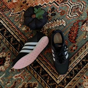 Adidas Navy, White & Pink Tennis Shoes